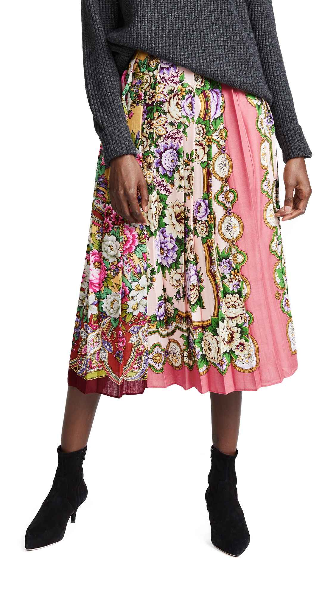Tata Naka Box Pleat Skirt In Floral