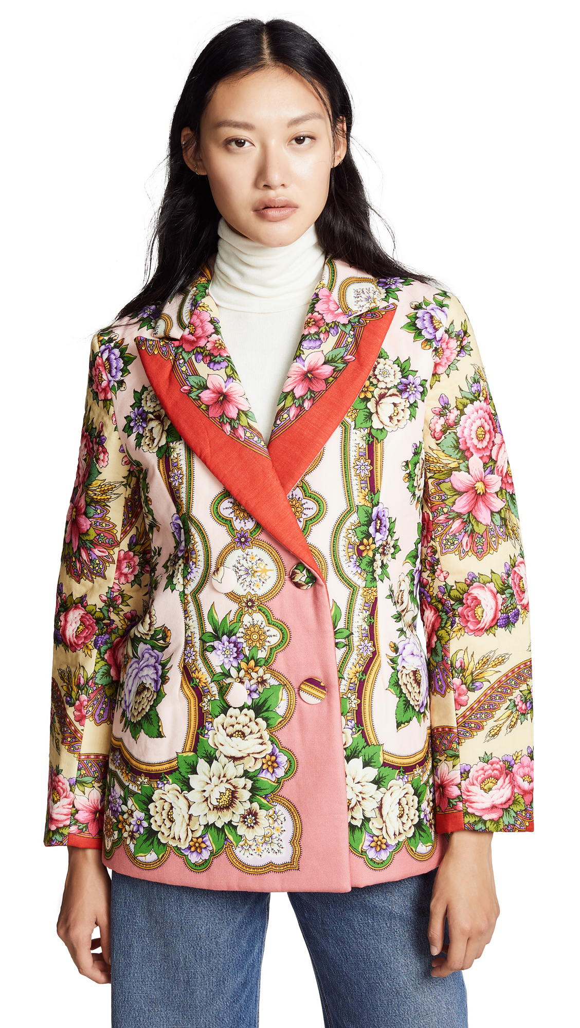 Tata Naka Padded Classic Jacket - Floral