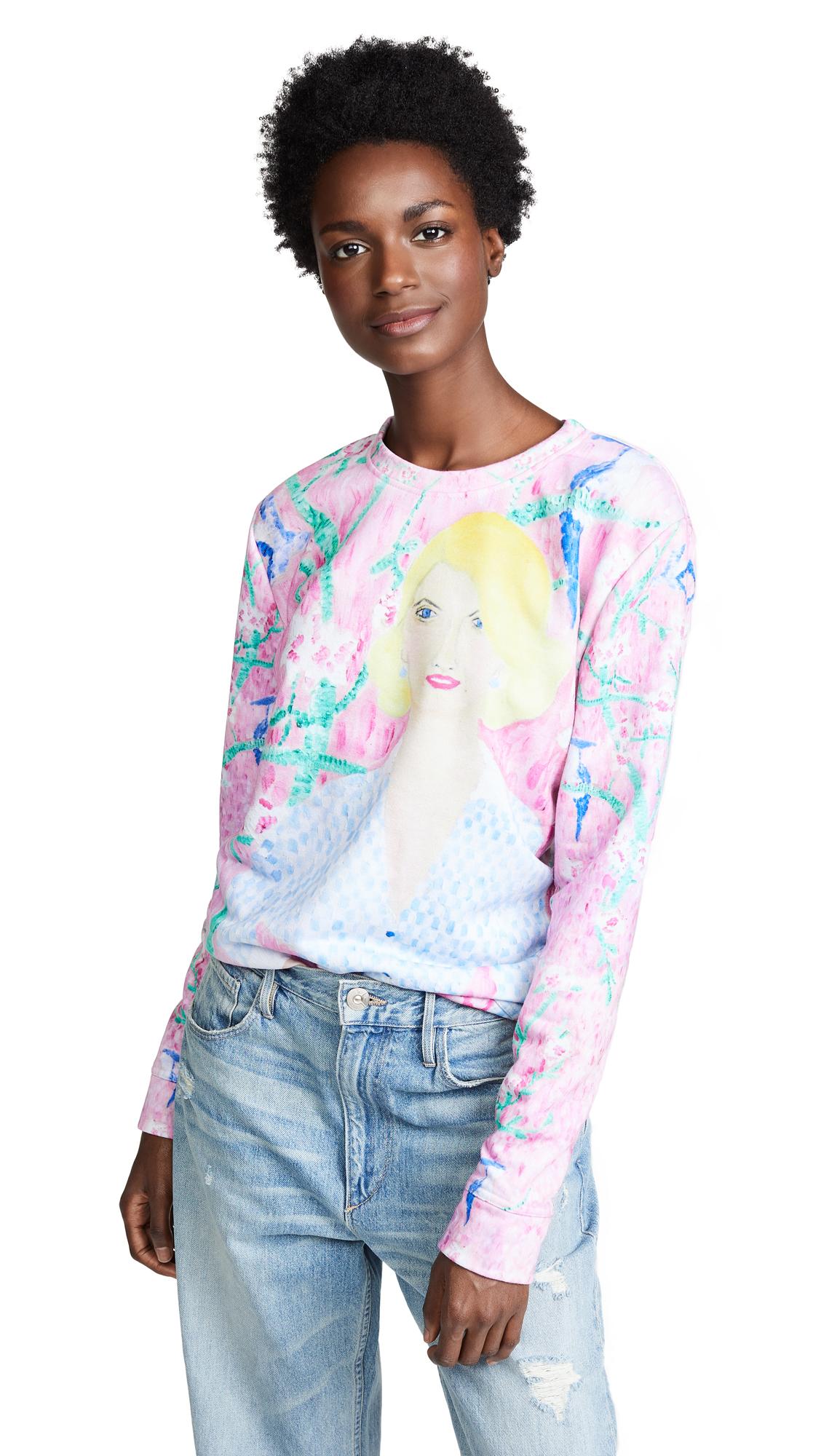 Tata Naka Garden Socialite Sweatshirt In Pink Multi