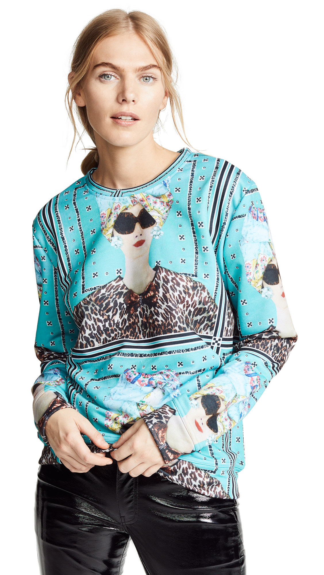 Tata Naka Babe Goes to Capri Sweatshirt In Blue Multi