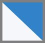 синий/белый в полоску