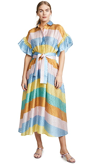 Tata Naka Rainbow Shirtdress