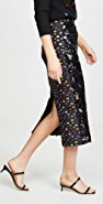 Tata Naka Polka- dot Jacquard with Beaded Front