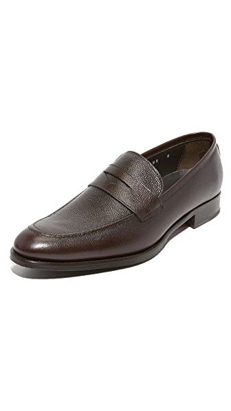 To Boot New York James Grain Leather Loafers