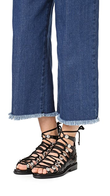 Toga Pulla Lace Up Sandals