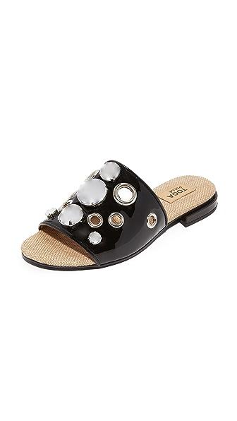 Toga Pulla Studded Slides - Black