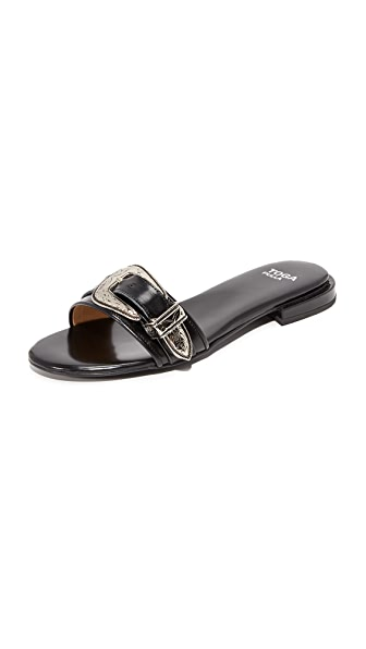 Toga Pulla Buckle Slides - Black