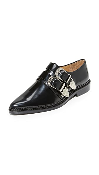 Toga Pulla Buckle Oxfords - Black