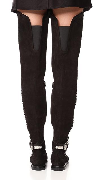 Toga Pulla Thigh High Rivet Boots