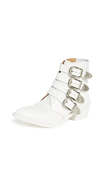 TOGA Western Buckle Bootie in White