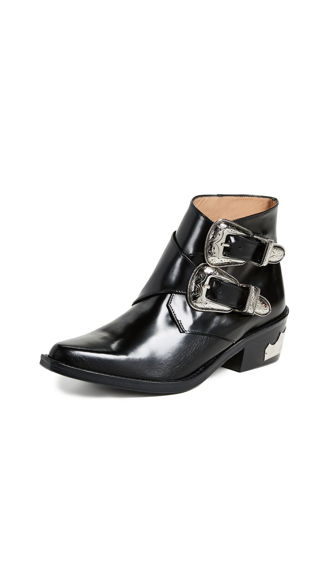 Toga Pulla Two Band Buckle Boots - Black