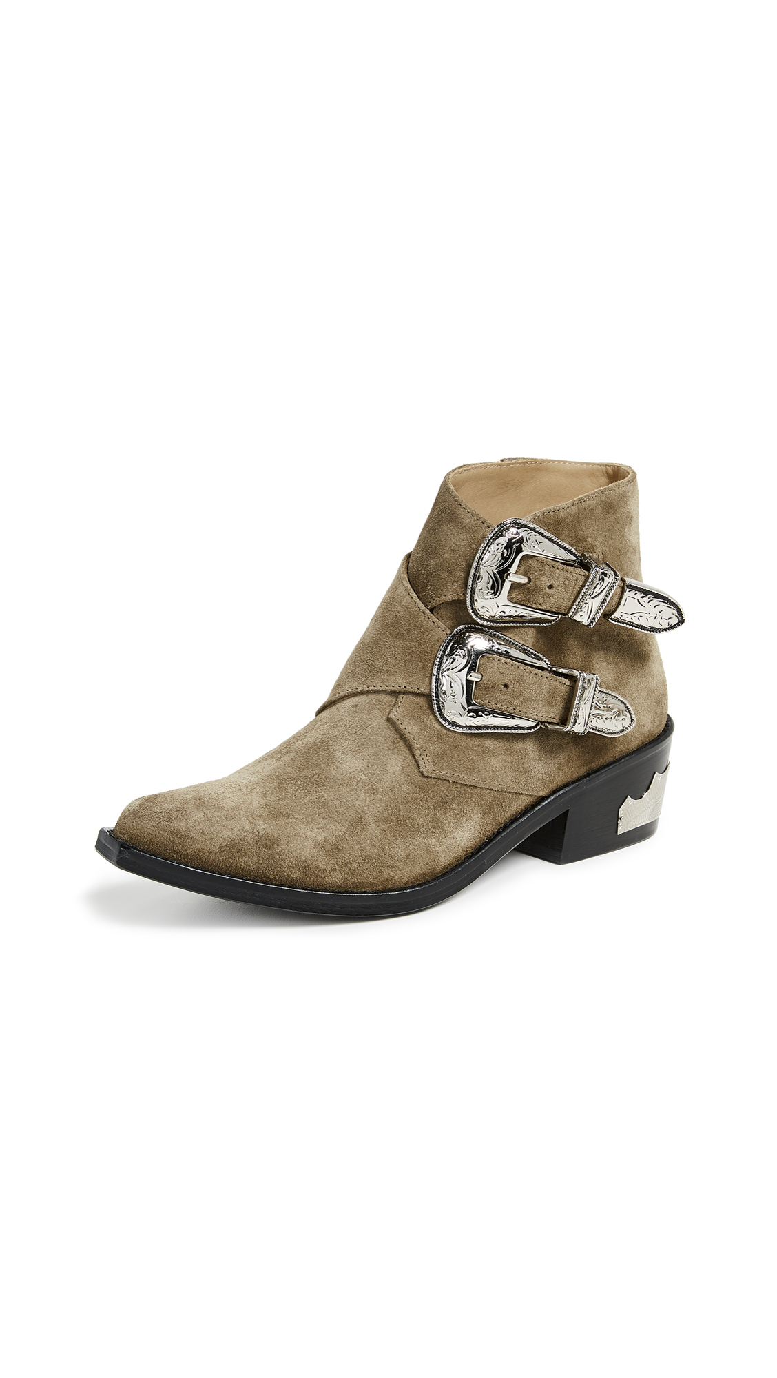 Toga Pulla Two Band Buckle Boots - Khaki