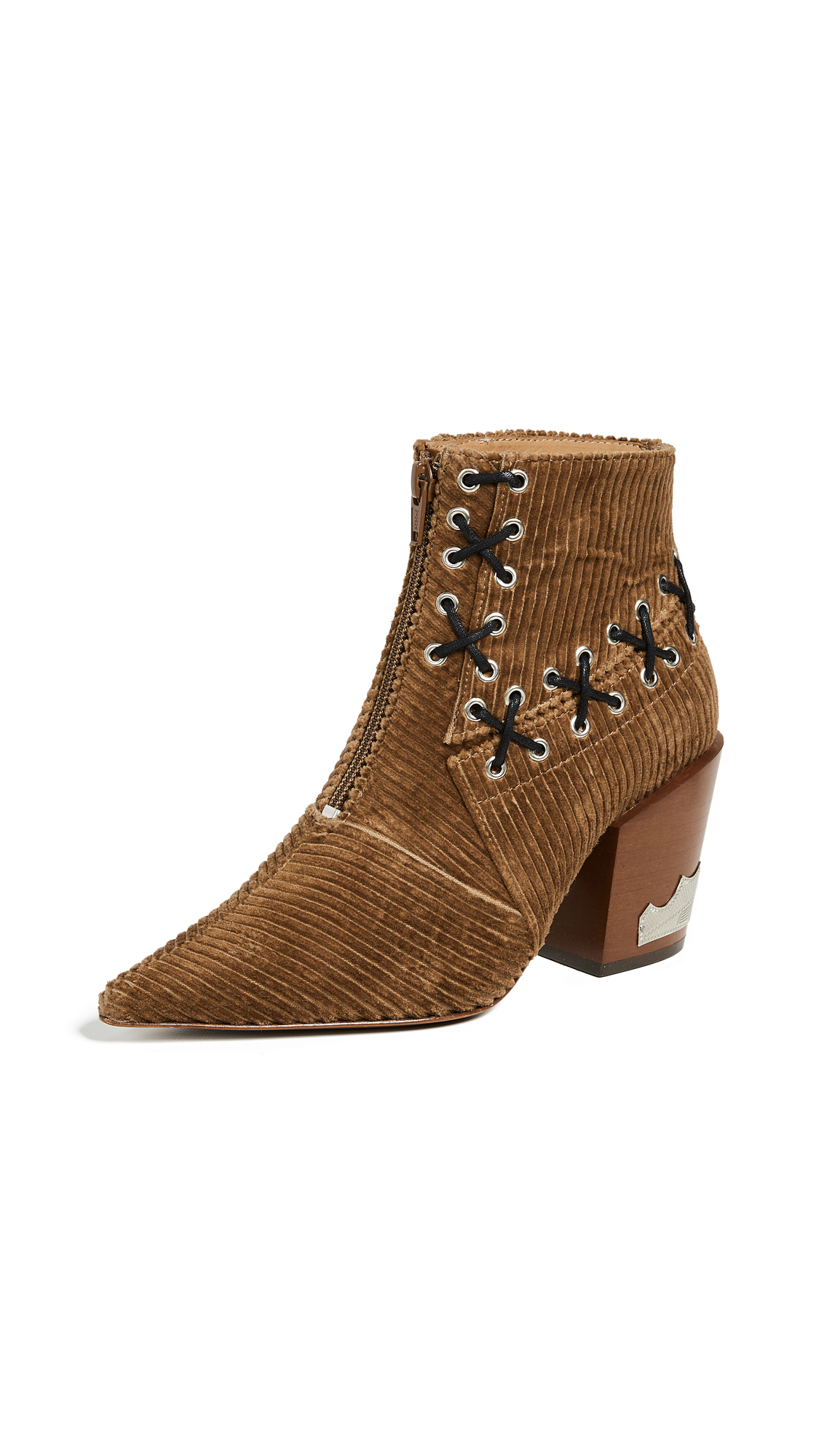 Toga Pulla Stitch Corduroy Bootie In Brown