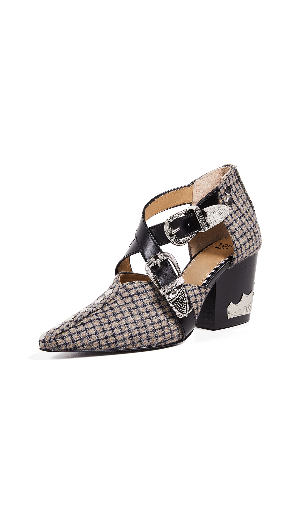 Toga Pulla Heeled Buckled Pump - Multi Check