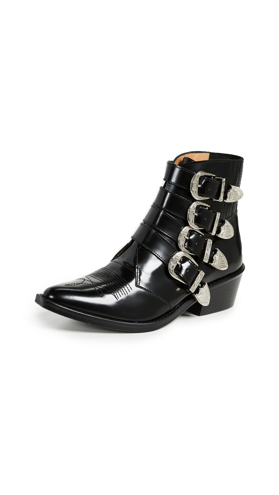 Toga Pulla Buckled Booties - Black