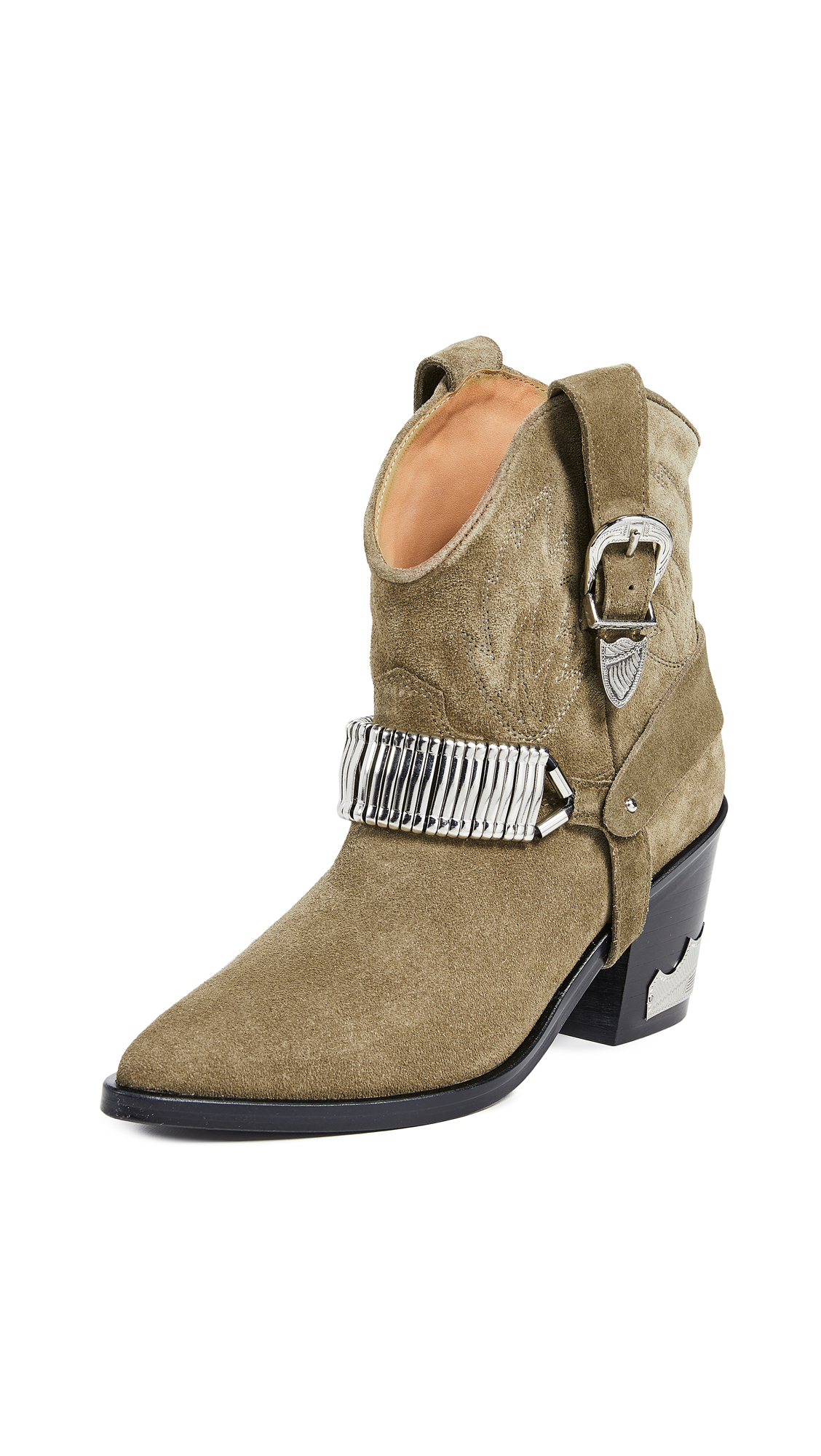 Toga Pulla Harness Cowboy Boots - Yellow/Khaki