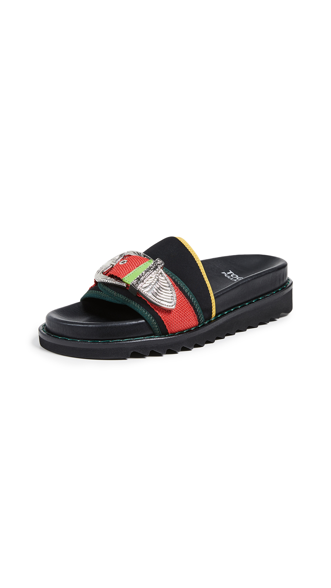 Toga Pulla Buckle Slides - Black Mix