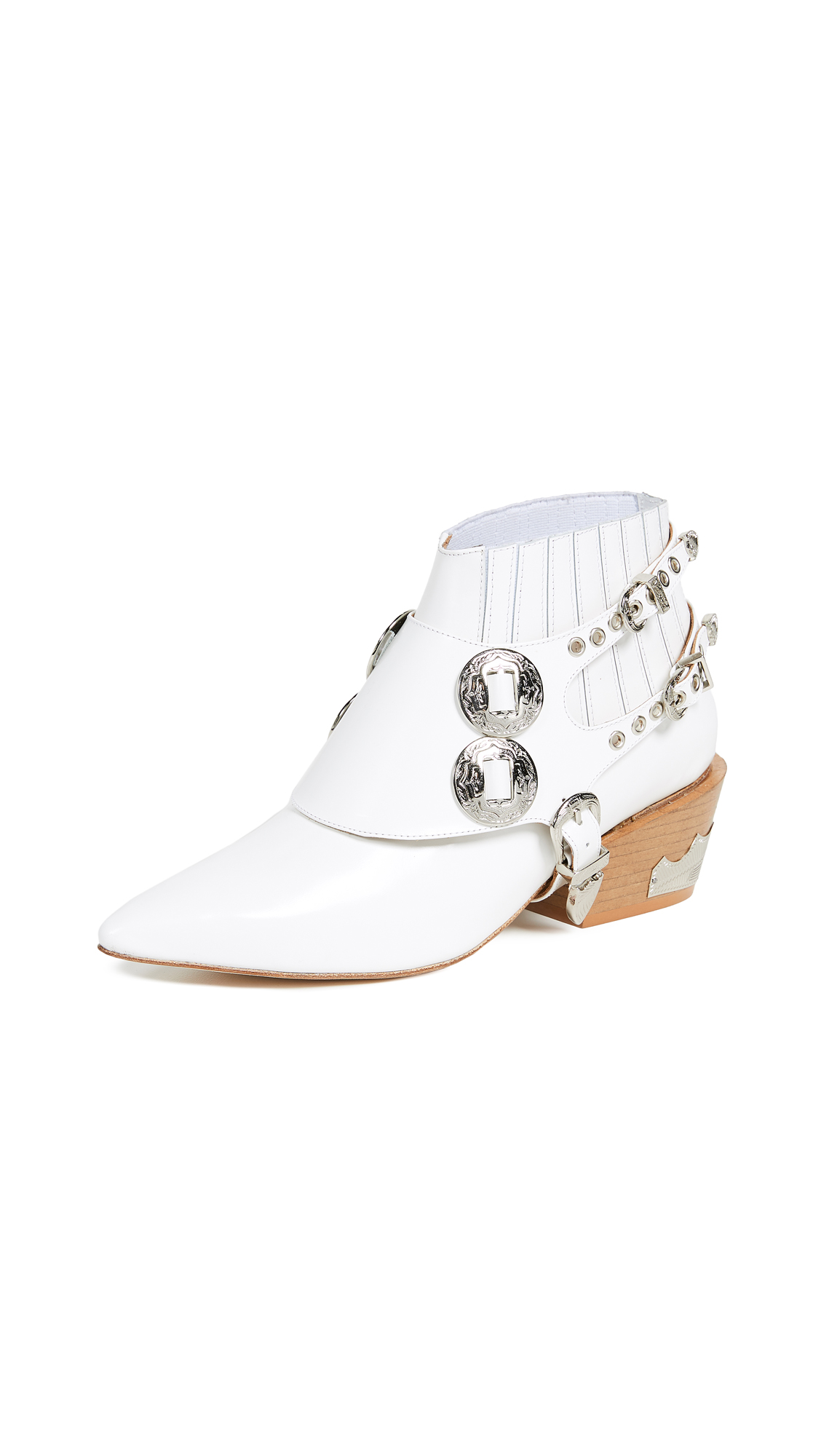 Toga Pulla Harness Ankle Boots - White