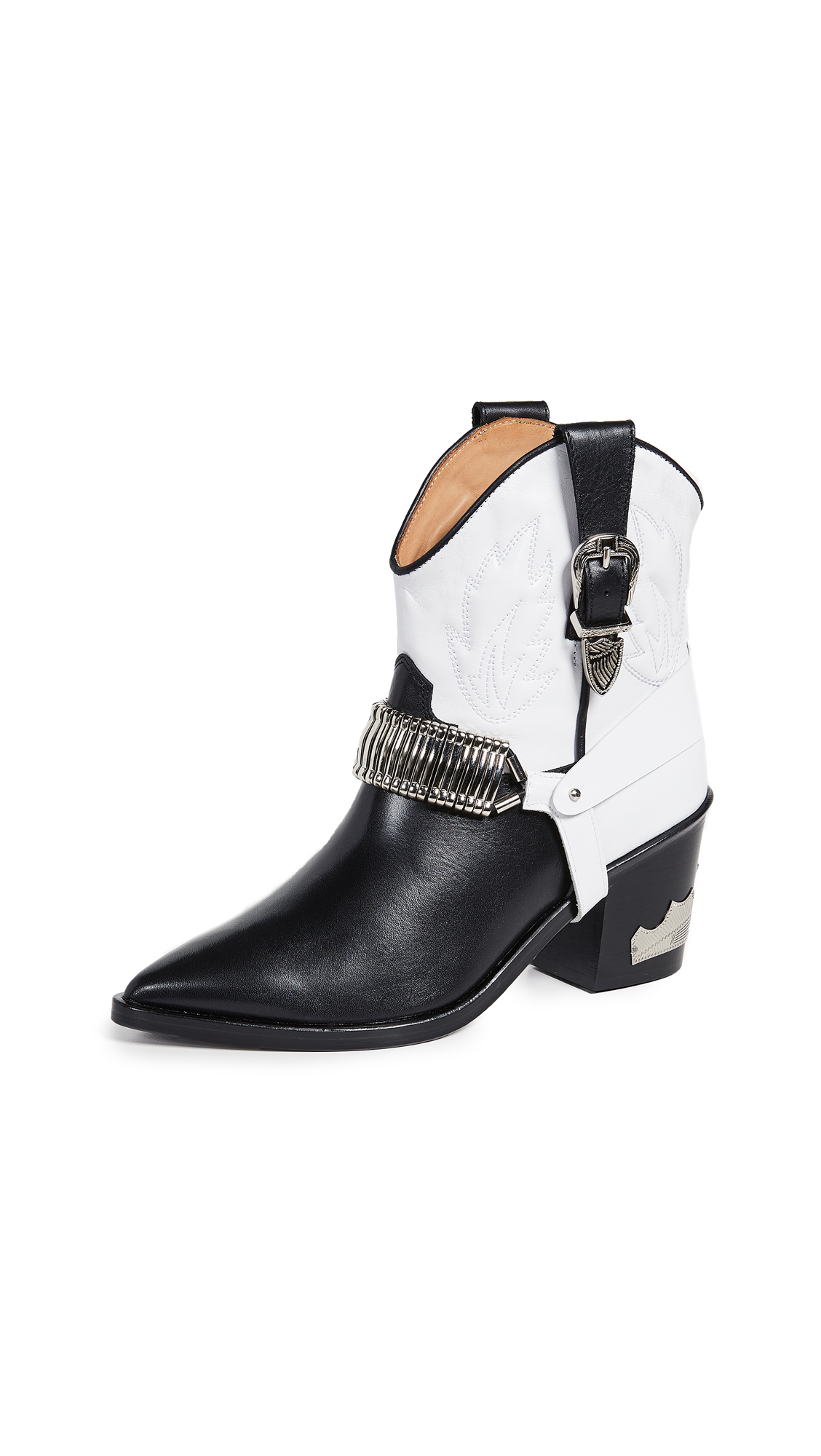 Toga Pulla Western Boots - Black/White
