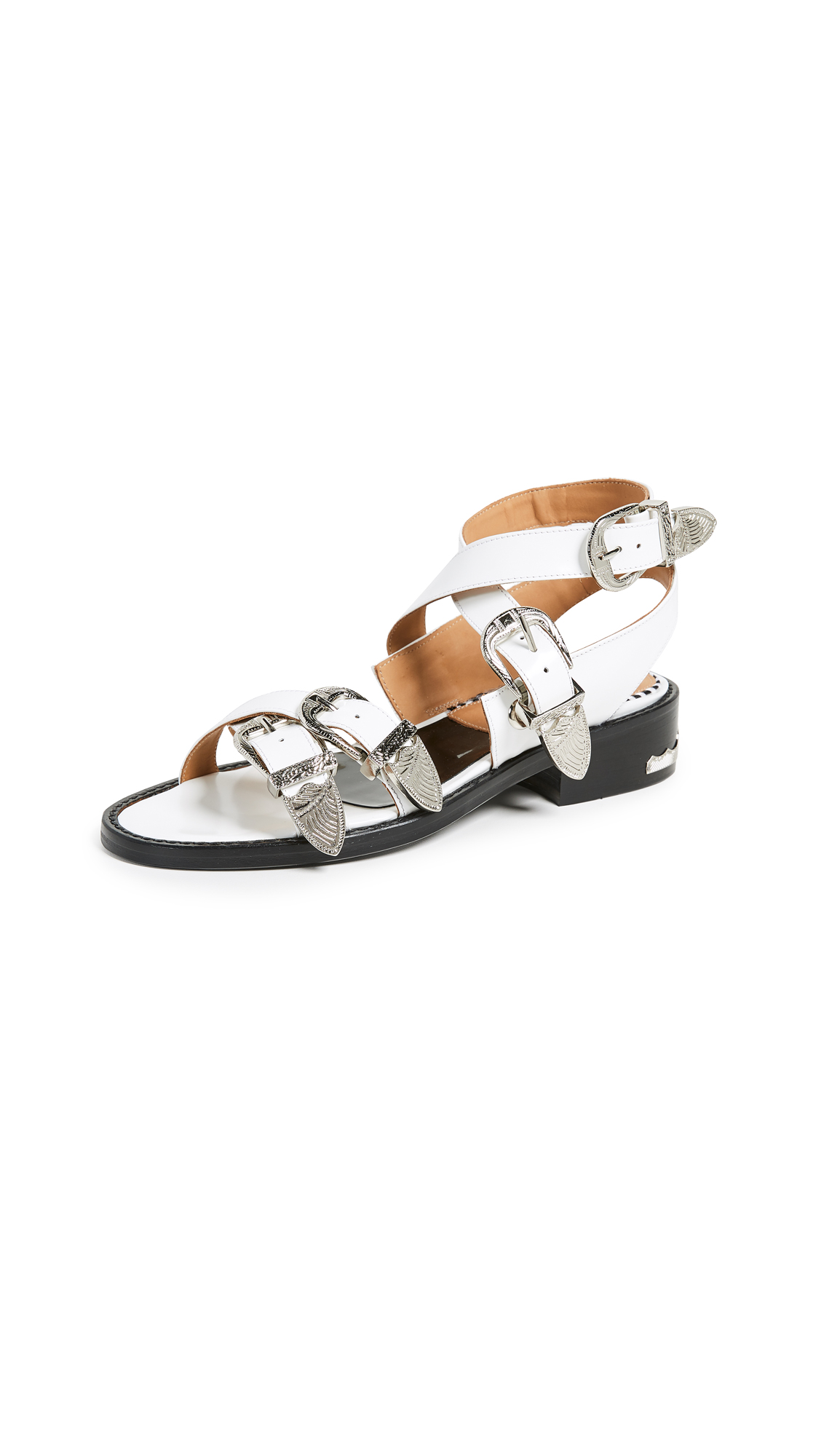Toga Pulla Buckle Strap Sandals - White