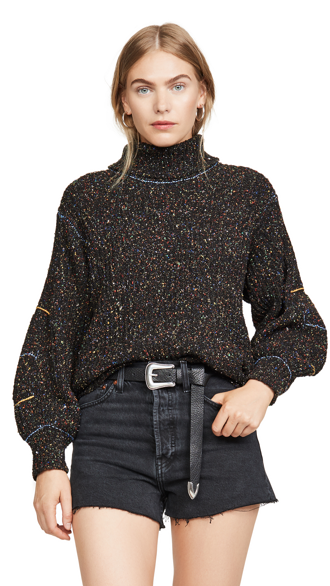 Buy Toga Pulla online - photo of Toga Pulla Tweed Knit High Neck Sweater