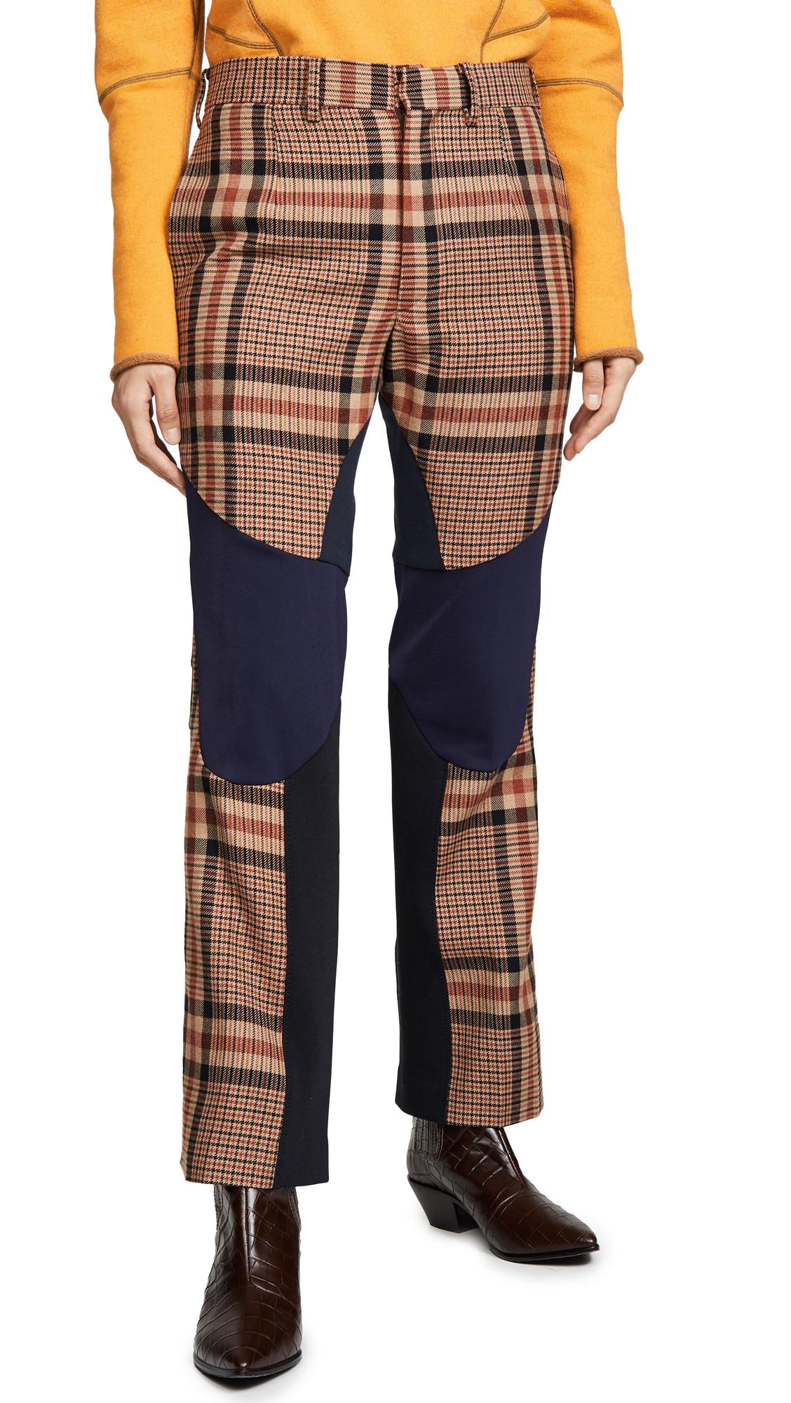 Buy Toga Pulla online - photo of Toga Pulla Wool Check Biker Pants