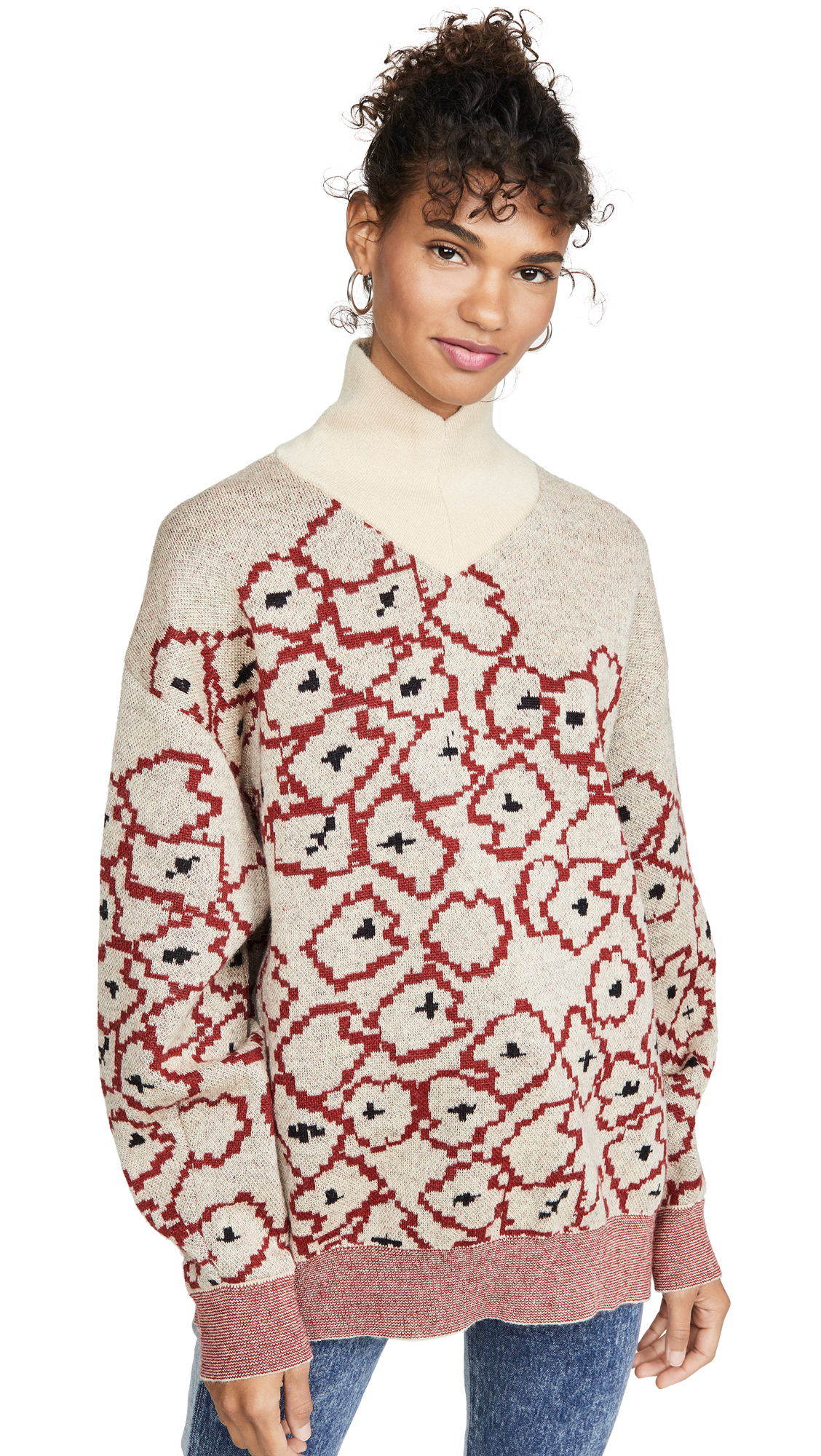 Buy Toga Pulla online - photo of Toga Pulla Mohair Flower Jacquard Knit Pullover