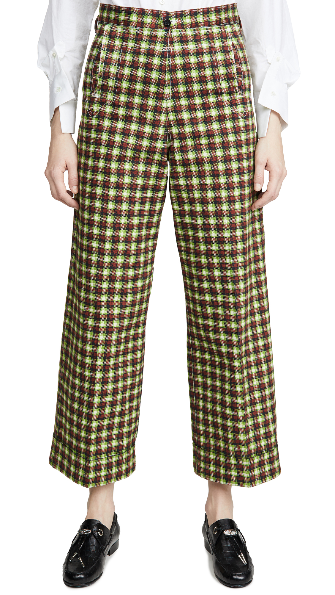Buy Toga Pulla online - photo of Toga Pulla Cotton Twill Check Pants