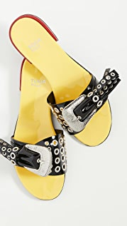 Toga Pulla Metal Grommet Buckle Sandals