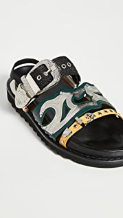 Toga Pulla Western Buckle Sandals