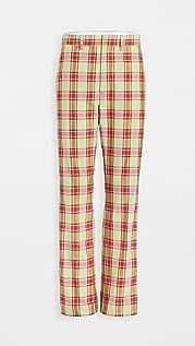 Toga Pulla 格纹棉布格纹长裤