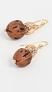 Tohum Wood Beads  Resort Earrings