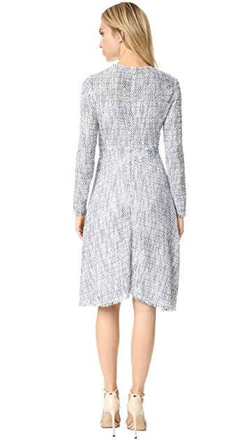 Tome Tweed Long Sleeve Flare Dress