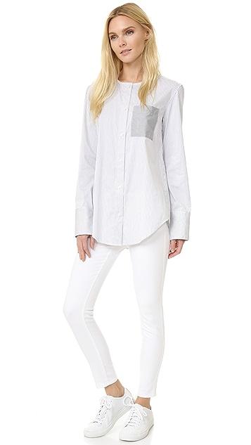 Tome Satin Stripe Long Sleeve Shirt