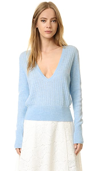 Tome Long Sleeve V Neck Sweater