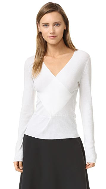Tome Long Sleeve Wrap Top