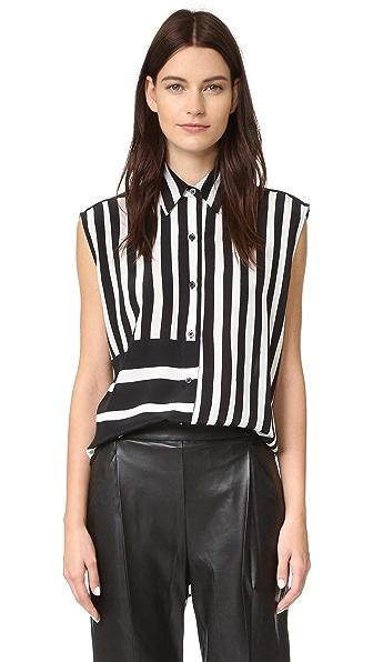 Tome Baja Stripe Lace Back Shirt