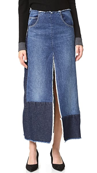 Tome Recycled Denim Slit Skirt