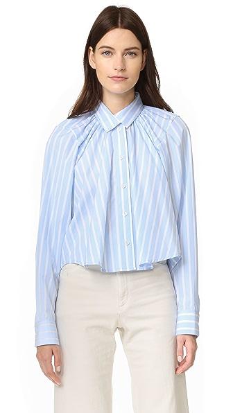Tome Oversized Gathered Shirt