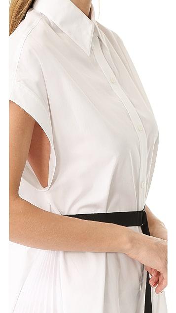 Tome Short Sleeve Shirtdress