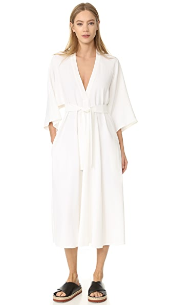 Tome V Neck Shirtdress - White