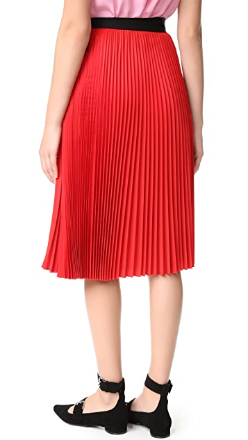 Tome Pleated Wrap Skirt