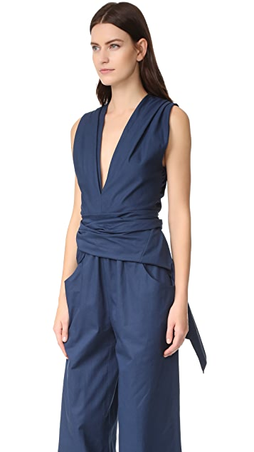 Tome Bow Front Jumpsuit