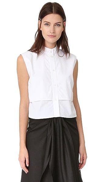 Tome Sleeveless Shirt - White
