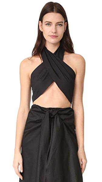 Tome Wrap Top In Black