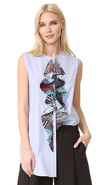 Tome Sleeveless Shirt - Blue/White