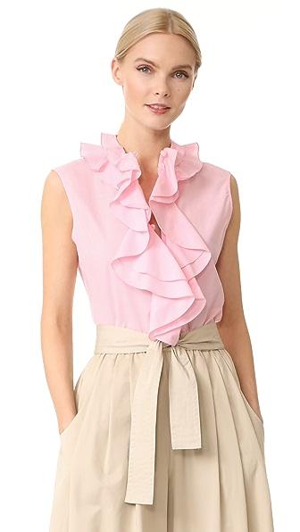 Tome Sleeveless Ruffle Collar Shirt
