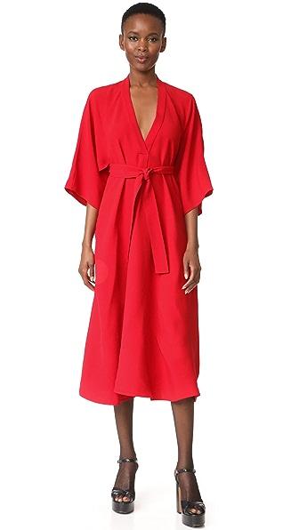 Купить Tome Платье-рубашка с V-образным вырезом TOMEE30109 красный