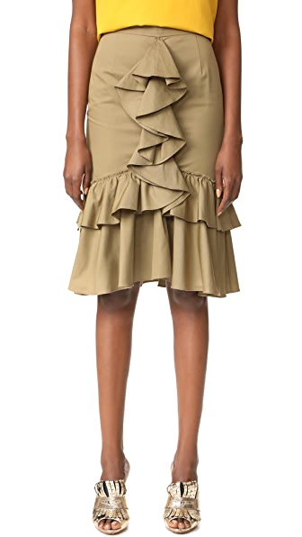 Tome Mermaid Skirt - Khaki