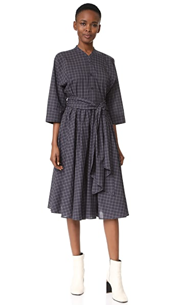 Tome Shirt Dress with Wrap